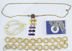 Two trays of assorted costume jewelleryto include necklaces, bangles, etc