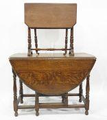 20th century oak gateleg tableand a Pembroke table(2)