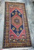 Wool on wool Yahyali carpet from Rose Carpets, Turkey, with certificate, red ground field with