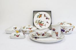 Royal Worcester porcelain oven-to-tableware Evesham pattern to include tureens and covers, porcelain