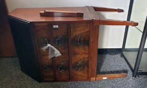 Reproduction mahogany bureauwith three drawers