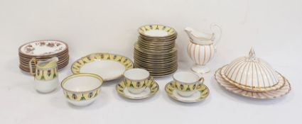 Noritake porcelain tea service decorated with yellow ground and stylised flowers together with a