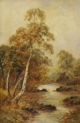Late 19th/early 20th century school Oil on canvas River scene, unsigned, 44cm x 28.5cm
