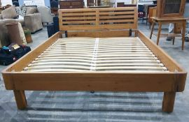 20th century suite of bedroom furnitureto include king size bed frame, chest of three drawers and