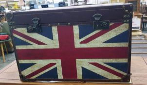 Modern chest with Union Jack decoration