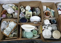 Mixed lot of ceramics in six boxesincluding a Hundred and One Dalmatians teapot and a ceramic toad