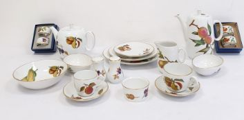 Collection of Royal Worcester Evesham pattern dinnerware to include dinner plates, soup plates, side