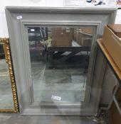 Grey painted rectangular mirror