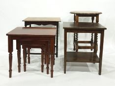 Nest of three tablesand three further side tables(4)