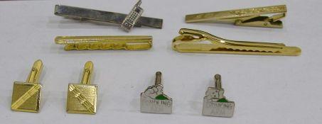 Box of gentleman's cufflinks, tie clips, etc