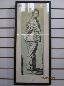 Robin Craig Guthrie (1902 - 1971) Chromolithographic print Portrait of Edward Thomas, signed lower