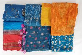 Quantity of various saris(1 box)
