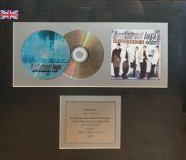 Commemorative framed and glazed CD Back Street Boys, Back Street's Back single, with presentation