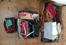 Large quantity of vintage and later handbags and a quantity of purses and wallets (3 boxes)