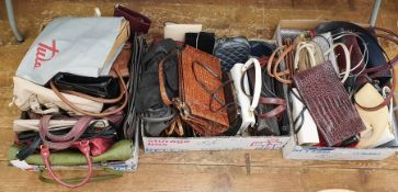 Large quantity of vintage and later handbags (3 boxes)  Condition ReportThere are too many bags in