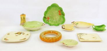 20th century chinawareto include Carltonware sugar castor, leaf dishes, Myott Son & Co ring, etc
