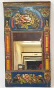 Wall mirror in embossed and painted frame Condition ReportApproximately 24 cm wide x 45 cm high