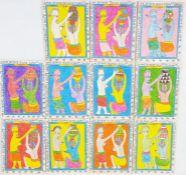 """Frederic Bruly Bouabre (1923-2014) Pen and crayon """"Les Femmes Celebrent la Bonte: Une Femme de"""