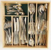 Robert Welch stainess steel cutlery 'Honeybourne pattern'with beaten-effect handles, to include