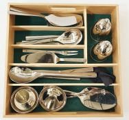 Stainless steel tableware, mainly WMF, to include salad servers, cake slice, etc (1 tray)