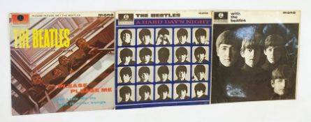 The Beatles 'Hard Days Night' 33rpm LP record, The Beatles 'Please Please Me' 33rpm LP recordand