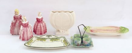 Royal Winton rhubarb decorated dishandvarious further 20th century itemsto include figures, etc