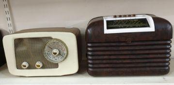 Bush 1950's bakelite-cased radio,RCA Victor bakelite-cased radio, Phillips radioand one further(