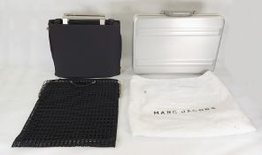 Herbert Lang mesh and metal tote bag, a Philip Starck for Samsonite black fabric travel bag with