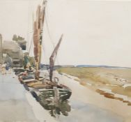 """William Thomas Martin Hawksworth (1853-1935) Watercolour drawing """"En Vens"""", signed lower left,"""