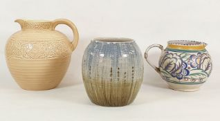20th century cream ground jugby Brentleighware, a Poole pottery jugmarked 'Carter Stabler Adams