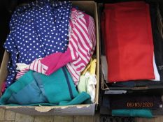 Large quantity of assorted vintage dresses, 1960's, 70's and later,two boxes of assorted vintage