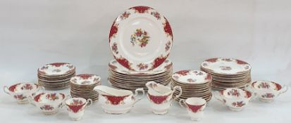 Paragon dinner service to include tureens, plates, teacups, saucers, etc Condition Report12 Tea