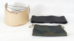 Jean Paul Gaultier wide leather belt with dust bag and a Georgina Goodman design 'bentwood' belt  (
