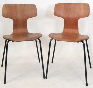 Set of four Arne Jacobsen designed for Fritz Hansen series 7 model 3107 chairs (4) Condition