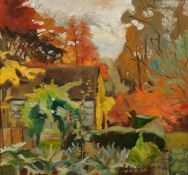 A Hill(?) Oil on board Cottage in woodland, signed and dated 1994 lower right  20th century school