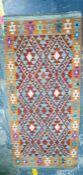Vegetable dye wool chobi kelim runner, 148cm x 66cm Condition ReportThe rug is in good condition.
