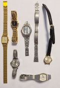 Small quantity of lady's Citizen, Seiko and other wristwatches ( 1 box)