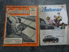Collection of vintage magazines to include 1950's copies of The Smallholder, 1950's copies of The