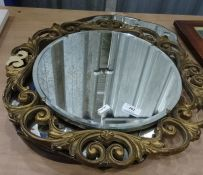 Three assorted mirrors