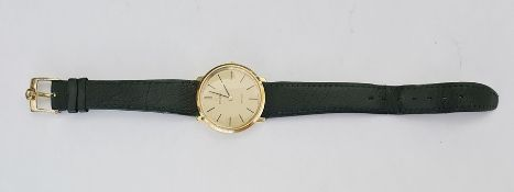 Omega De Ville Gold Plated Cased Gent's Wristwatch, signed dial with line markers,the movement