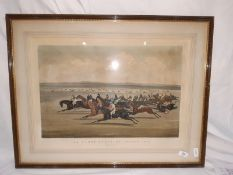 """After C N Smith engraver Two colour prints """"The Cambridgeshire Stakes 1853, They Are Off"""" and """"The"""