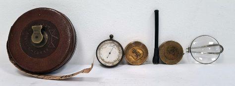 Pocket barometer, a tape measure, etc (1 box)