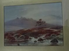 Thomas Mortimer (1880-1920) Set of four watercolour drawings Highland landscapes, each signed (5)
