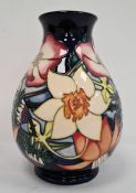 Moorcroft baluster-shaped vase stamped 'ERII Golden Jubilee 2002', initialled 'PH', 20cm high approx