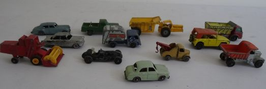 Assortment of children's toys to include Matchbox by Lesney No.18 Field Car, 65 Combine Harvester,