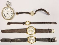Gent's Seiko Sportsmatic rolled gold and stainless steel wristwatch,a lady's Sekonda gold-coloured