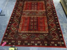 Modern eastern style rug from the Rug company, label to reverseCondition ReportThe dimensions are