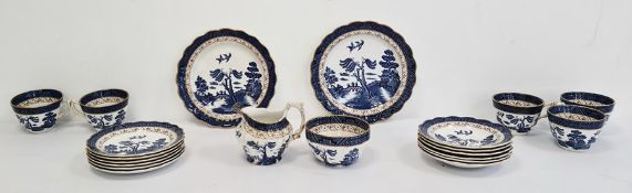 Booths blue and white 'Willow' pattern pottery part tea service  Condition ReportComprises 1 x