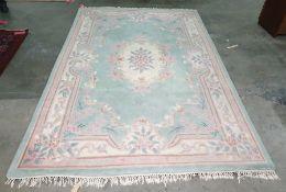 Blue ground Chinese superwash rectangular rug, 273cm x 180cm
