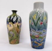 Two Cobridge vases, one with pond decoration, the other with woodland decoration (2)